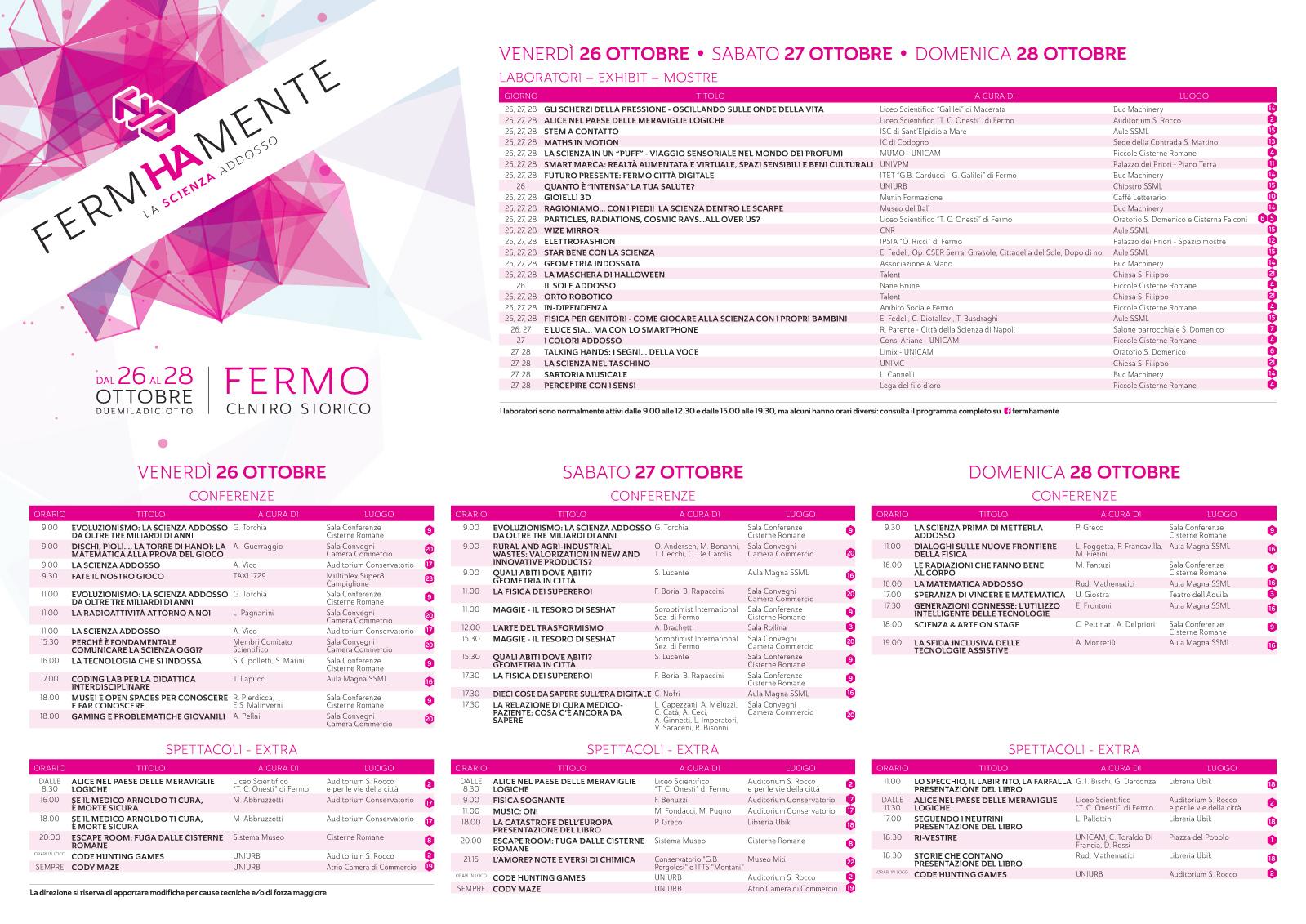 Mappa Fermhamente 2018 - fronte
